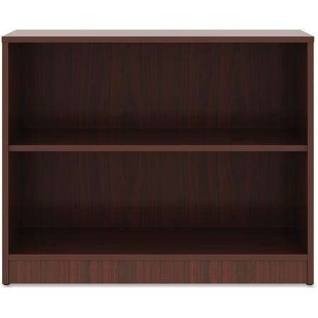 Lorell Mahogany Laminate Bookcase, Mahogany, 1 Each (Quantity)