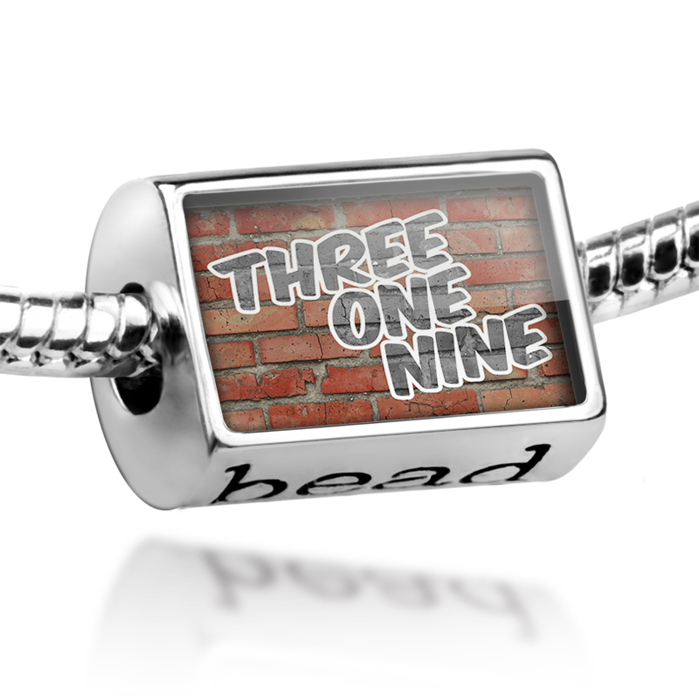 Bead 319 Cedar Rapids, IA brick Charm Fits All European Bracelets