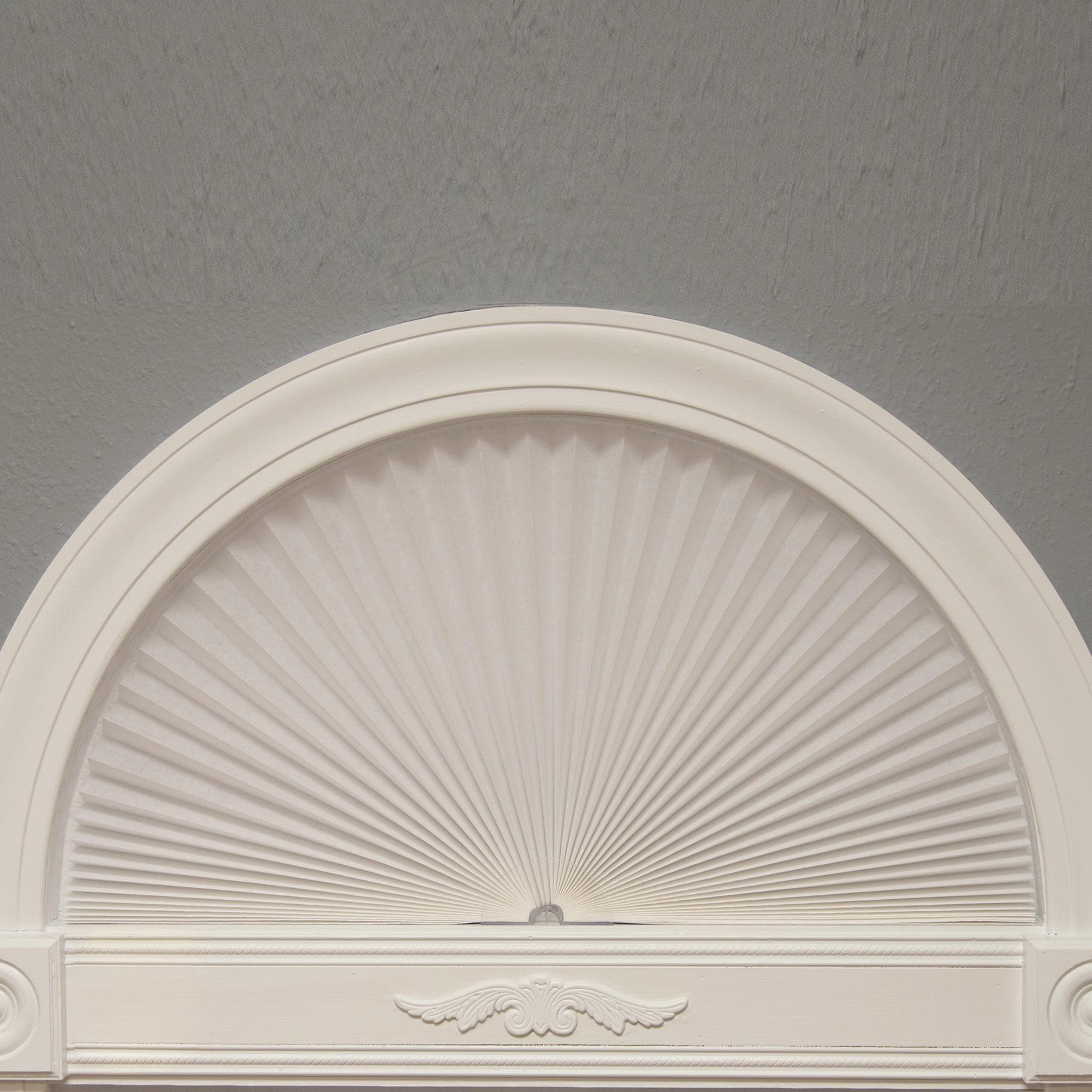 Redi Shade Original Arch Light Filtering Pleated Fabric, White
