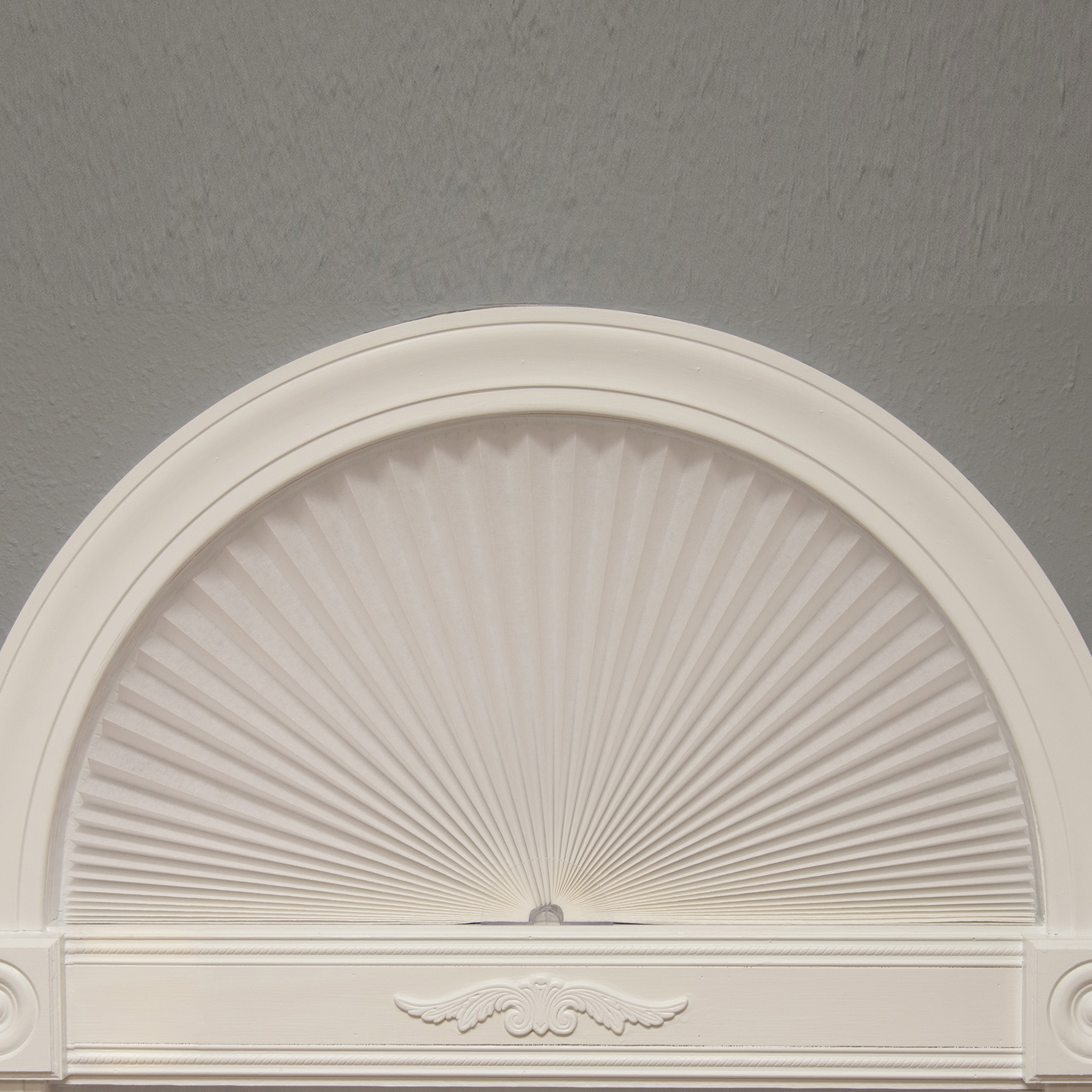 Original Arch Light Filtering Pleated Fabric, White
