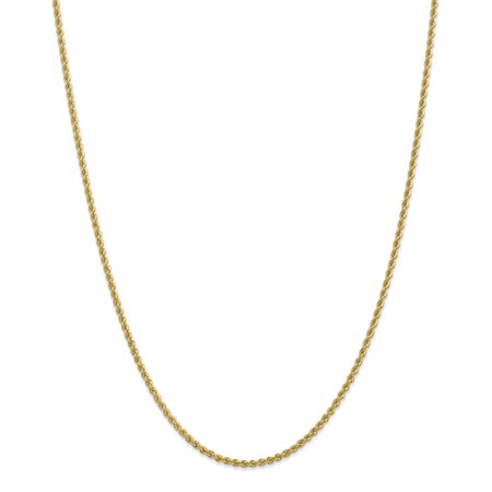 14kt Yellow Gold 2.25mm Link Rope Chain Necklace 20 Inch Pendant Charm Fine Jewelry Ideal Gifts For Women Gift Set From Heart