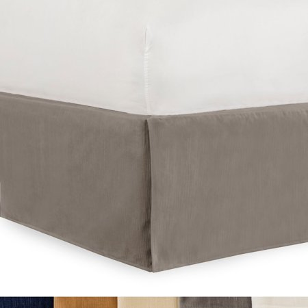 Gavotte Home Tailored Velvet Bed Skirt With Split Corner 14