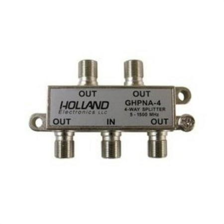 Wide Band Splitter (holland 4 way broadband splitter for iptv & u-verse homepna 3.1 tested & certified)