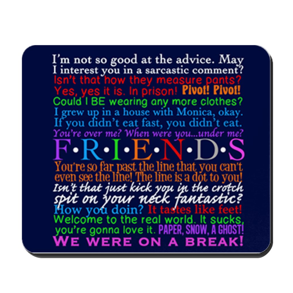 CafePress - Friends TV Blue - Non-slip Rubber Mousepad, Gaming Mouse Pad