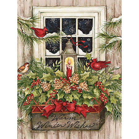 lang window box snow boxed christmas cards