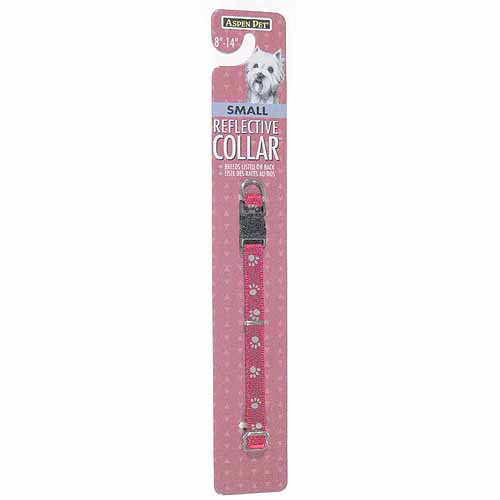 "Petmate Doskocil Co. Inc. Reflective Dog Collar, Black, 3/8"" x 8""-14"""
