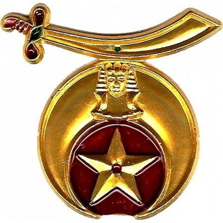 """Shriner Sword Symbol Cut-Out Car Emblem [Gold - 2.375""""]"""