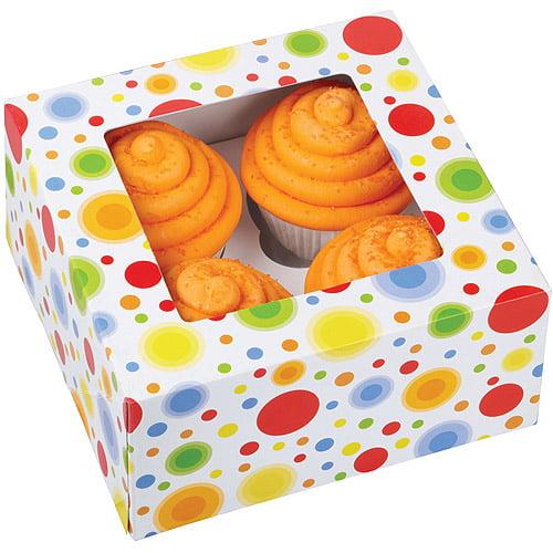 Wilton 4-Cavity Cupcake Box, Circles 3 ct. 415-0735