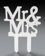 Cake Decoration Gum Paste Mr. & Mrs. Ornament