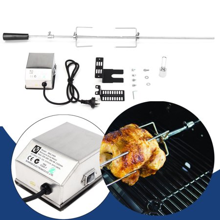 Wedlies Universal Rotisserie Motor Kit BBQ Grill for lambs, Small Piglets, Goats Chickens (Grilling Lamb Ribs)