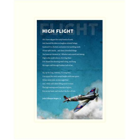 Gargantuan image for high flight poem printable