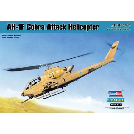 HobbyBoss 87224 Bell AH-1F Cobra 1/72 Scale Plastic Model Kit