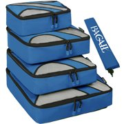 Dresstells 4 Set Packing Cubes, Travel Luggage Packing Organizers with Laundry Bag by Dresstells