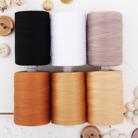Threadart 100% Cotton Thread Set | 6 Quilting Tones | 1000M (1100 Yards) Spools | For Quilting & Sewing 50/3 Weight | Long Staple & Low Lint | Over 20 Other Sets Available Variegated Cotton Quilting Thread