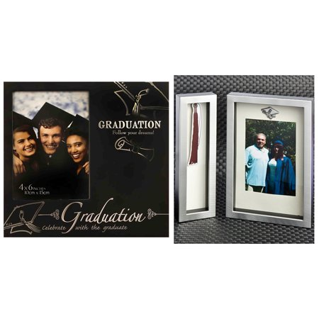 Mozlly Fashioncraft Black And Silver Metal Graduation 4x6 Photo