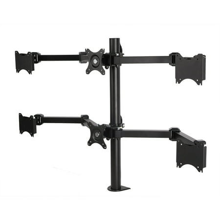 "D1S Full Motion Six Monitor Arm Desk Mounts Stand Fits 10""-24 "" LCD Computer Monitor (Six arms)"