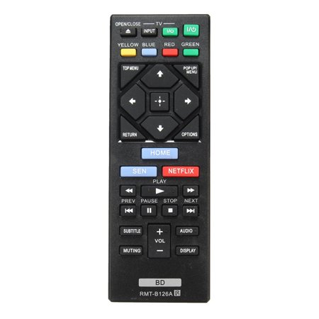 Remote Viewer - New RMT-B126A Replaced Remote for Sony BD Blu-Ray Players DVD LCD/LED TVs BDP-BX120 BDP-BX520