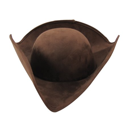 Colonial Tricorn Hat Revolutionary War Reenactor Costume Accessory Theater Prop