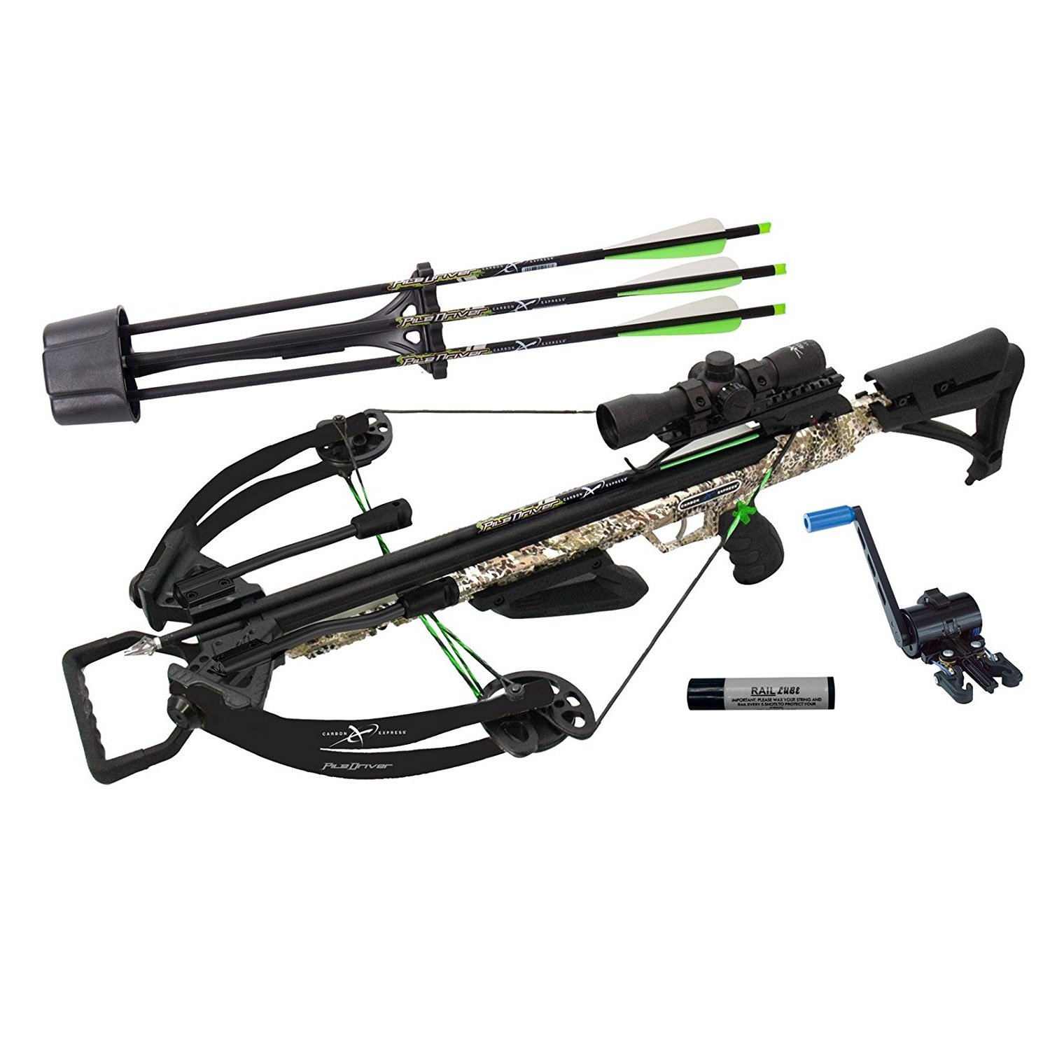 Carbon Express XForce PileDriver 390 Crossbow with Crank by Carbon Express