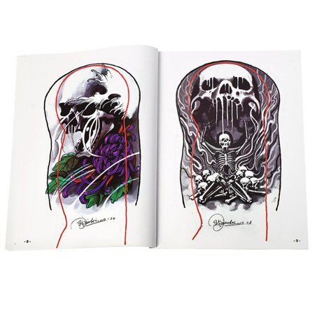 Tattoo Supplies References Book Manuscript Sketchbooks Body Art Cool - image 2 of 6