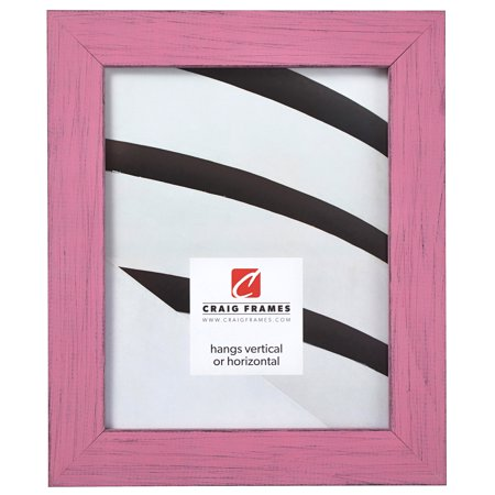 Craig Frames Jasper, Country Petticoat Pink Picture Frame, 8 x 10 Inch Country Music 8x10 Photo