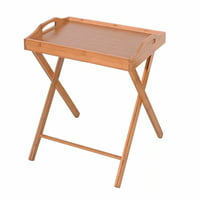 Bamboo Lipped Snack Table, Bamboo