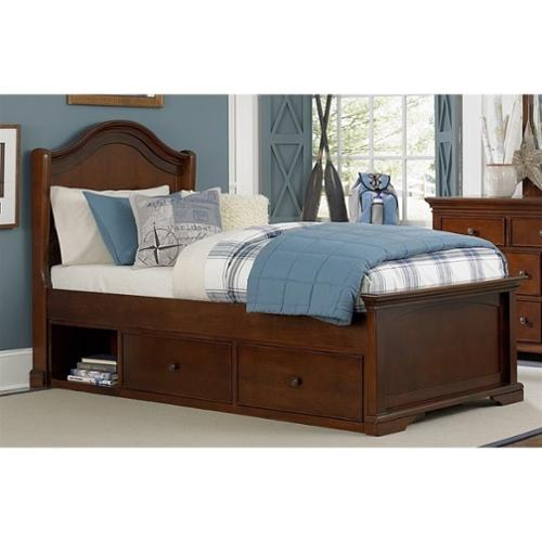 NE Kids Walnut Street Morgan Twin Arch Storage Bed in Chestnut