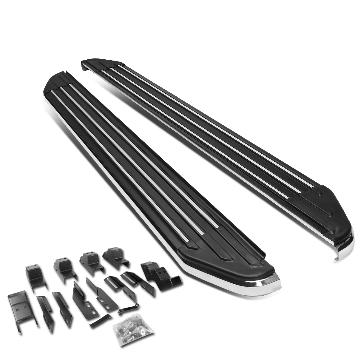"""For 07-09 Acura MDX YD2 Pair of 6"""" Aluminum Side Step Nerf Bar Running Board 08"""