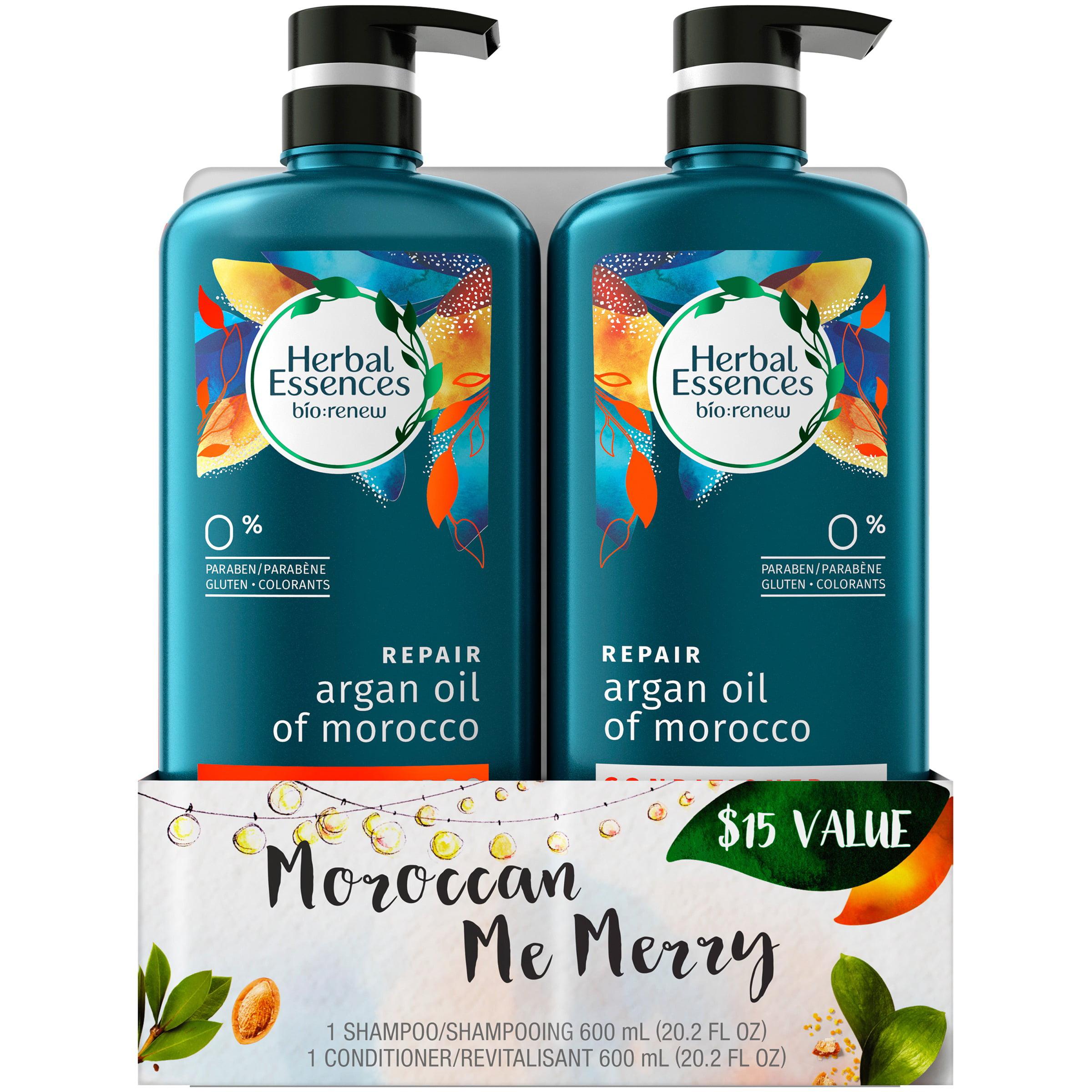 Herbal Essences Bio:Renew Argan Oil of Morocco Shampoo and Conditioner Set, 40.4 fl oz (20.2 fl oz Each)