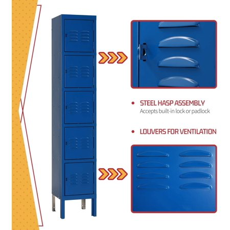 metal locker steel storage locker with 5 door 5 tier