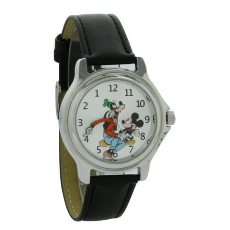 Vintage style backward ticking watch Goofy And Micky Mouse Molded Hand Quartz watch GFY003