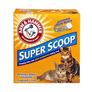 Arm & Hammer Super Scoop Fragrance Free Clumping Litter with Odor Elimating Baking Soda, 14.0 LB