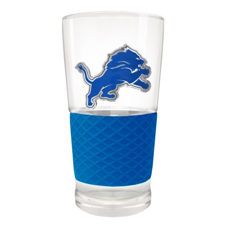 Detroit Lions 22oz. Pilsner Glass with Silicone Grip - No Size
