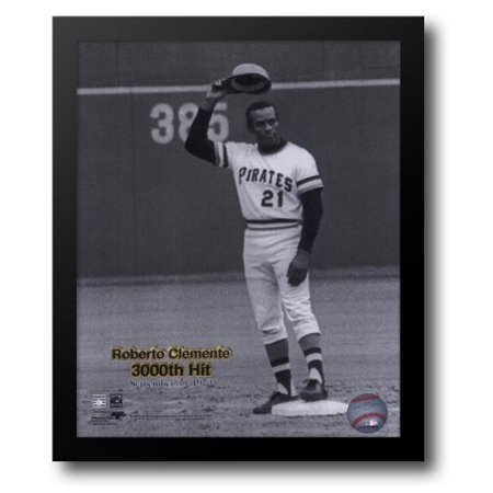 Roberto Clemente - 9/30/72 3000 Hit 12x14 Framed Art Print