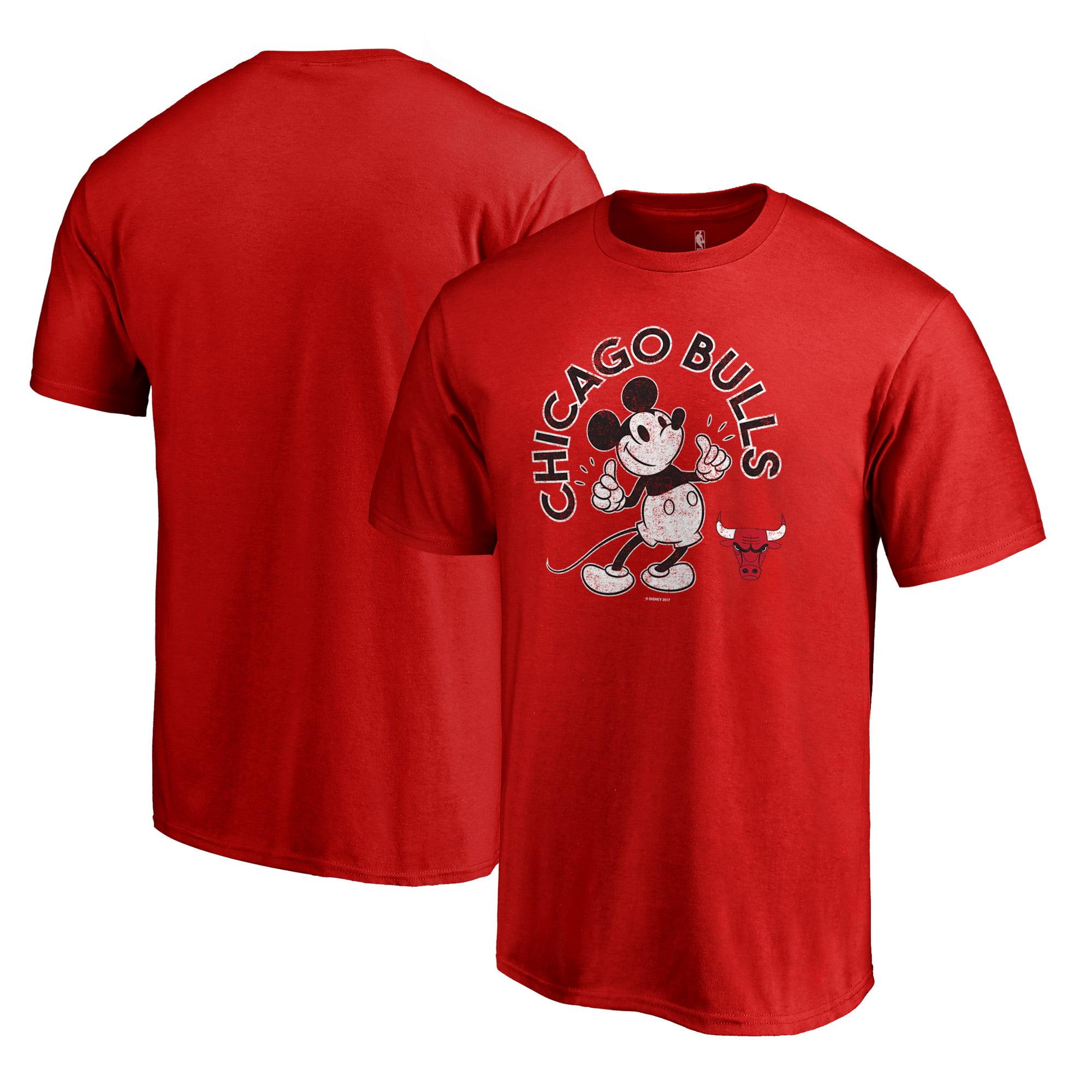 Chicago Bulls Fanatics Branded Disney Mickey's True Original Arch T-Shirt -  Red
