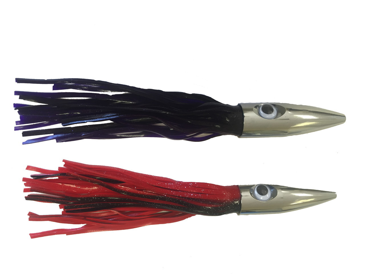 "2 Pack 12"" Bullet Head Trolling Fishing Lures Wahoo Killing Machines by"
