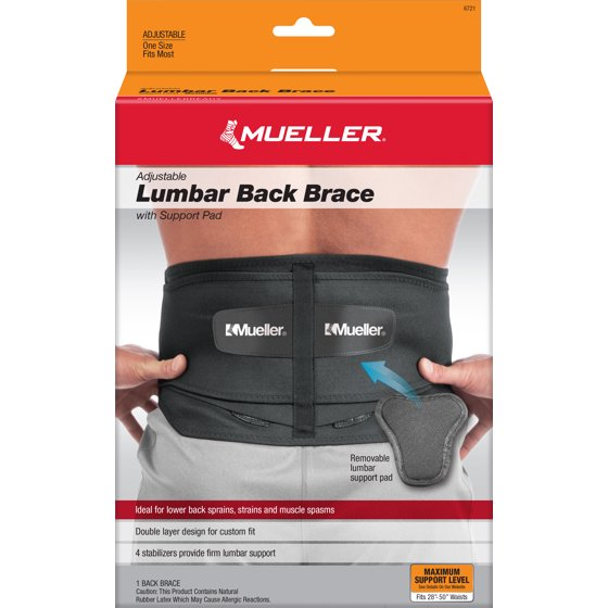 0f1569b9f Mueller Adjustable Lumbar Back Brace with Removable Pad