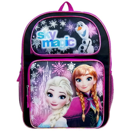 Disney Frozen Sky Magic Black Girls Large Backpack/School Book Bag for Kids