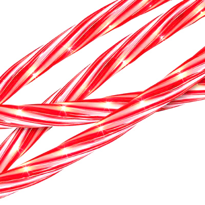 18' Red and White Candy Cane Indoor/Outdoor Christmas Rope Lights