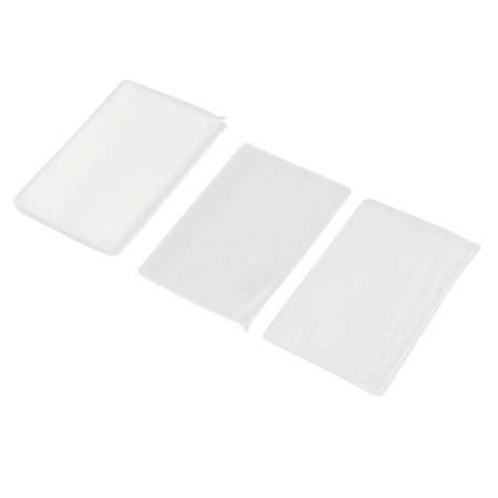 Plastic Rectangle Bank Credit ID Card Holder Organizer Clear 9cm x 6cm 20 (Citi Bank Best Credit Card)