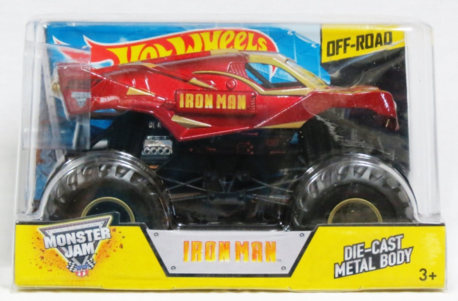 Hot Wheels Monster Jam Iron Man Scale 1:24 Off Road 2014, diecast By Mattel by