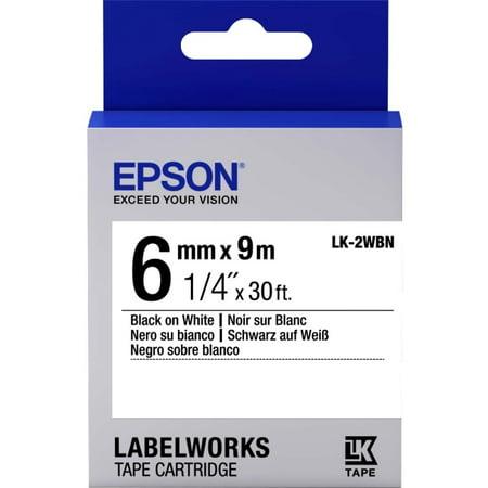 Epson LabelWorks Standard LK Tape Cartridge ~1/4
