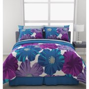 Giant Floral Comforter Set With Sheets