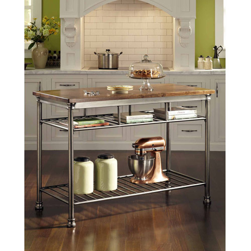 Home Styles Orleans Kitchen Island with Butcher Block Top