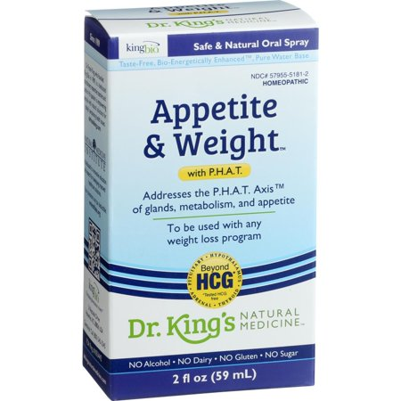 King Bio Homeopathic Appetite And Weight Control   With Phat   2 Oz