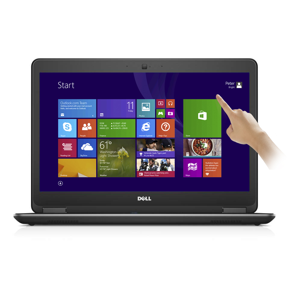 "Refurbished Dell Latitude E7440 14"" Touch Laptop Intel i7 Dual Core 2.1GHz 8GB 256GB SSD"