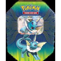 Pokemon Elemental Power Tin- Vaporeon- GX- 1 Foil Card | Evolutions of Eevee