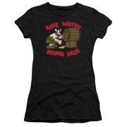 Hagar The Horrible Save Water Drink Beer Juniors Short Sleeve Shirt