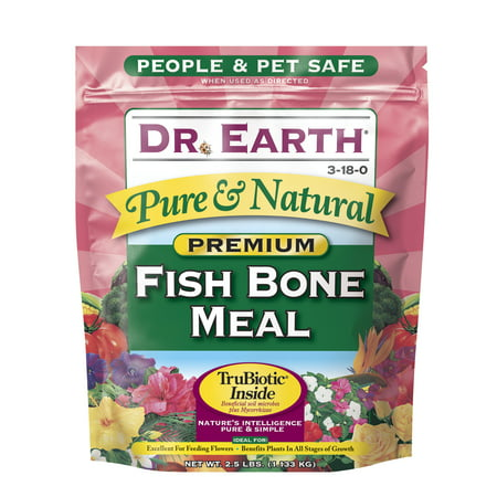 Dr. Earth Organic & Natural Fish Bone Meal, 2.5 lb