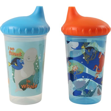 Disney Finding Dory Slim Sipper Cups, 2 - Finding Nemo Cups